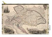 Map Of Austria 1850 Carry-all Pouch