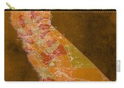 Map Of California, 1898, Orange Background Carry-all Pouch