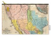 Map Of California New Mexico Texas  1849 Carry-all Pouch