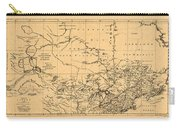 Map Of Canada 1762 Carry-all Pouch