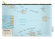 Map Of Cape Verde Carry-all Pouch