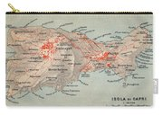 Map Of Capri 1909 Carry-all Pouch