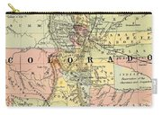 Map Of Colorado Carry-all Pouch