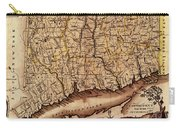 Map Of Connecticut 1795 Carry-all Pouch