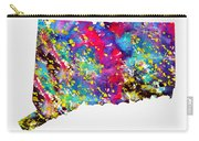 Map Of Connecticut-colorful Carry-all Pouch