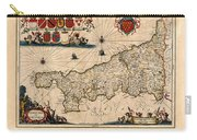 Map Of Cornwall 1646 Carry-all Pouch
