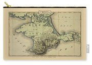 Map Of Crimea 1815 Carry-all Pouch