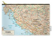 Map Of Croatia 2 Carry-all Pouch