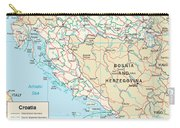 Map Of Croatia Carry-all Pouch