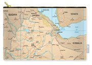 Map Of Ethiopia Carry-all Pouch
