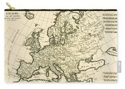 Map Of Europe Carry-all Pouch by Guillaume Raynal