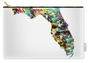 Map Of  Florida-colorful Carry-all Pouch