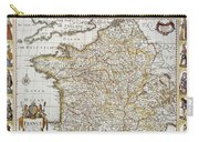 Map Of France, 1627 Carry-all Pouch