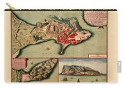 Map Of Gibraltar 1706 Carry-all Pouch