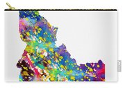 Map Of Idaho-colorful Carry-all Pouch
