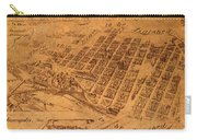 Map Of Minneapolis Minnesota Vintage Birds Eye View Aerial Schematic On Old Distressed Canvas Carry-all Pouch