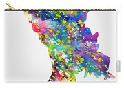 Map Of Moldova-colorful Carry-all Pouch