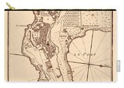 Map Of Monaco 1764 Carry-all Pouch