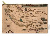 Map Of New Jersey 1672 Carry-all Pouch