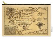 Map Of Newfoundland 1625 Carry-all Pouch