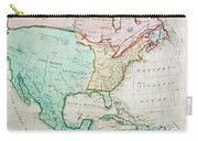 Map Of North America Carry-all Pouch by English School