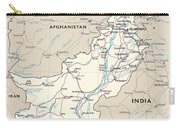 Map Of Pakistan Carry-all Pouch