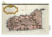 Map Of Saint Lucia 1758 Carry-all Pouch