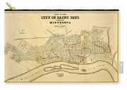 Map Of Saint Paul 1852 Carry-all Pouch