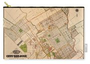 Map Of San Jose 1886 Carry-all Pouch