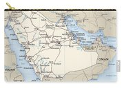 Map Of Saudi Arabia 2 Carry-all Pouch