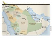Map Of Saudi Arabia Carry-all Pouch