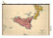 Map Of Sicily 1875 Carry-all Pouch