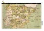 Map Of Spain Carry-all Pouch