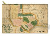 Map Of Texas 1834 Carry-all Pouch