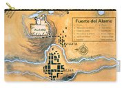 Map Of The Alamo Area In San Antonio Carry-all Pouch