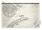 Map Of The Battle Of Copenhagen Carry-all Pouch