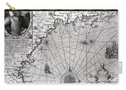 Map Of The Coast Of New England Carry-all Pouch by Simon de Passe