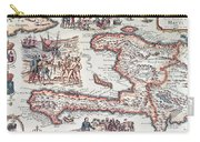 Map Of The Island Of Haiti Carry-all Pouch