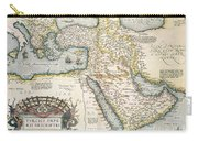 Map Of The Middle East From The Sixteenth Century Carry-all Pouch by Abraham Ortelius