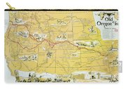 Map Of The Old Oregon Trail Carry-all Pouch