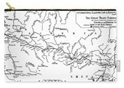 Map Of The Trans-siberian Railway Carry-all Pouch