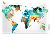 Map Of The World 11 -colorful Abstract Art Carry-all Pouch