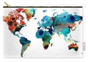 Map Of The World 6 -colorful Abstract Art Carry-all Pouch