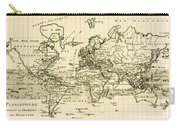 Map Of The World Using The Mercator Projection Carry-all Pouch