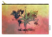 Map Of The World Wind Rose 1 Carry-all Pouch
