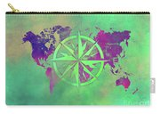 Map Of The World Wind Rose 3 Carry-all Pouch