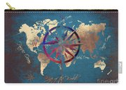 Map Of The World Wind Rose 4 Carry-all Pouch