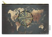 Map Of The World Wind Rose 5 Carry-all Pouch
