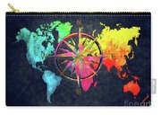 Map Of The World Wind Rose 6 Carry-all Pouch