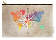 Map Of The World Wind Rose 7 Carry-all Pouch